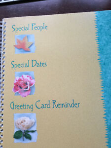 Vintage Hallmark Special People Dates & Greeting Card Reminder