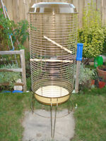 Large Bird Cage Round With Stand