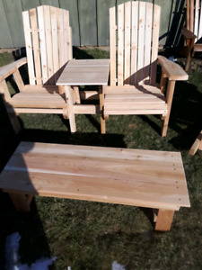 Red cedar and pine muskoka chair sale only$99