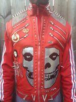 Sleeveless Motorcycle leather Punk Jacket
