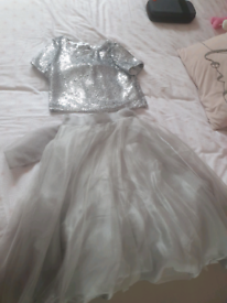 river island 2 peice party dress