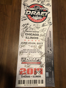 2017 NHL Draft Ticket Canvas Signed by all 31 First Rounders COA