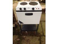 Electric cooker hob and grill freestanding