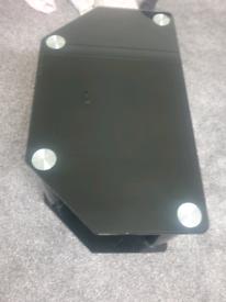 TV Black Chrome Glass Table