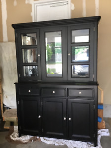 Hutch And Mirrored Buffet Ashley Dining Furniture
