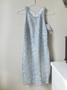 Nasty Gal Silver Sequin Party Dress - never worn, tags on, small