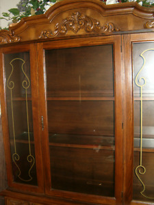 Antique China Cabinet and Hutch