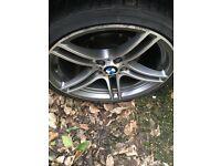 """BMW 313 alloy wheel 19"""" original Bridgestone protenza bargain"""