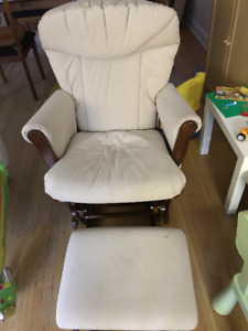 Rocking chair, glider and ottoman