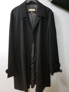 Michael Kors Mens Rain/Trench Coat Black - size 42L