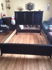 Queen size black bed frame