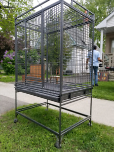 Bird Cage 3 feet by 2 1/2 with wheel castors