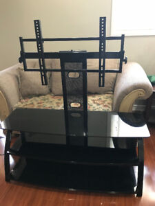 BLACK TINTED GLASS TV-STAND MUST GO!!!