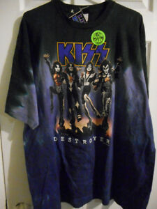 KISS Destroyer GLOW in the DARK Shirt NEW with TAGS !!!!