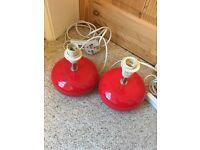Argos Red Lamp Bases