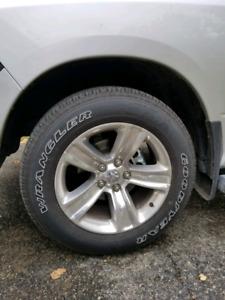 Good year wrangler sra tires.