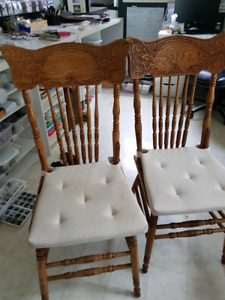 Two antique cane seated chairs