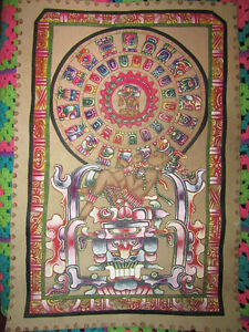 Authentic Mayan Calendar Painting from Guatemala
