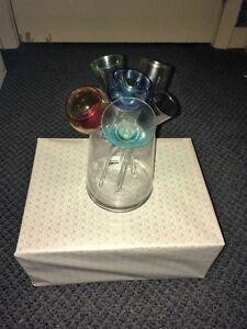 Verre shooter multicolor avec vase - Multicolor shooter glasses