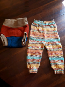 Wool diaper cover and pants