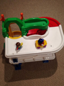 Fisher price little people car play set w/ 2 dolls & 1 car