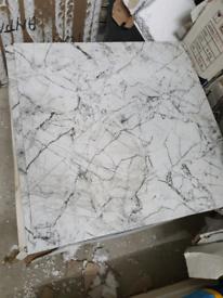 White Marble Effect 60x60cm for kitchen floors