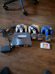 N64 console 3 controllers