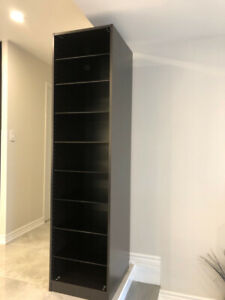 Wardrobe with lots glass shelves-IKEA