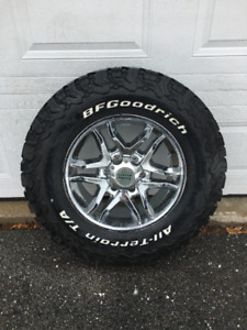 "17"" American Racing Chrome Wheels & BFGoodrich T/A K02's"
