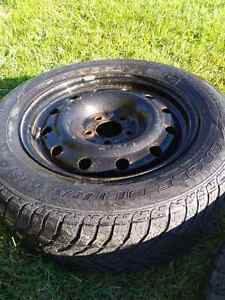 Snow tires with rims - Goodyear Ultra Grip 215/65R16 Cambridge Kitchener Area image 2