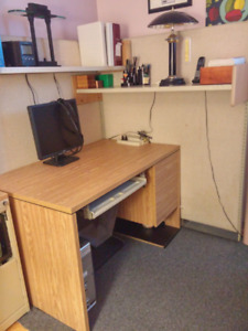 Bureau bois solide avec ou sans panneaux