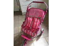Children's double buggy