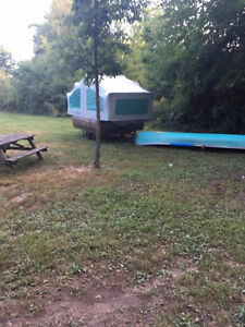 REDUCED - Antique coleman camper - Freshly painted!