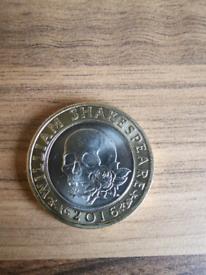 2 pound coin shakespeare rare