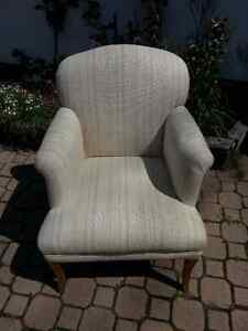 Small cream accent chair