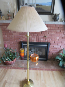 Floor lamp with glass shelf $15  & Furniture for sale