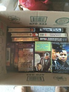 Box of assorted VHS movies