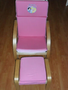 Child's Princess armchair with footstool