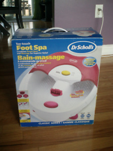 Dr scholls foot spa with toe touch motion///still brand new