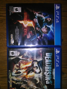PlayStation '4' 2 games Resident Evil, Dead Rising