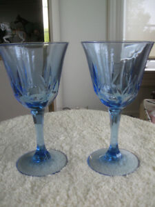 TWO BEAUTIFUL PIECES of COBALT BLUE STEMWARE