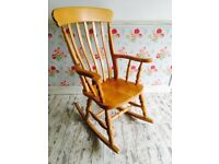 Solid wood chunky rocking chair, collection near Hoo ME3