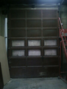 Industrial 10 foot wide Garage Door