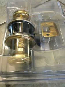 BRASS PASSAGEWAY CLOSET DOOR KNOB HANDLE LOCKSET LOCK SET