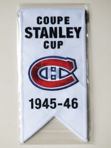 CENTENNIAL STANLEY CUP 1945-46 BANNER MONTREAL CANADIENS HABS