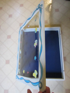 Shadow box/picture frame for baby memorabilia