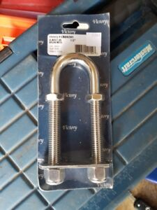 "Victory Marine 1/2"" s.s. u-bolt brand new in package"
