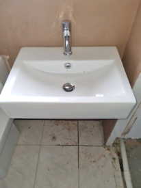 Sink instalation mixer radiator replaced bath taps mixer