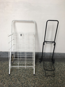 2 Collapsible Carts - Shopping Cart and Mini strap on one