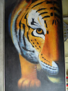 TIGER'S HEAD OIL ON CANVAS